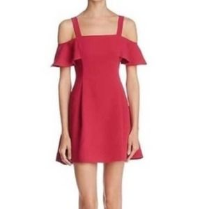 LIKELY Bellamy Cold Shoulder A-line Mini Dress